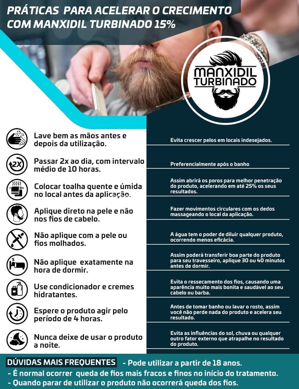 Manxidil Turbinado - Tratamento para crescimento de cabelo e barba